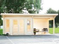 Wolff Pultdachhaus Trondheim 70-D XL mit Seitendach 200 cm Rechts