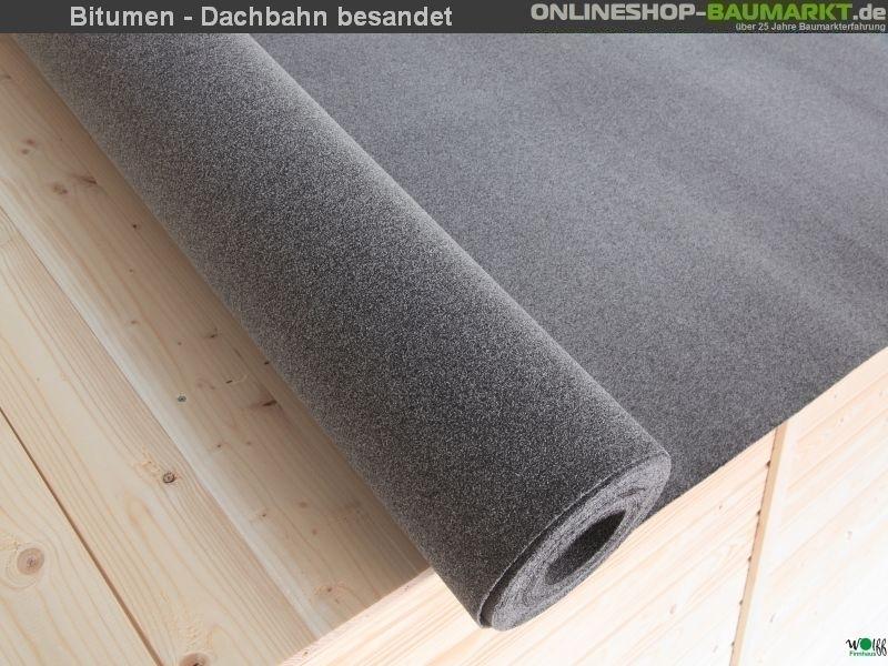 Wolff Finnhaus Bitumen- Dachbahn besandet 6 m