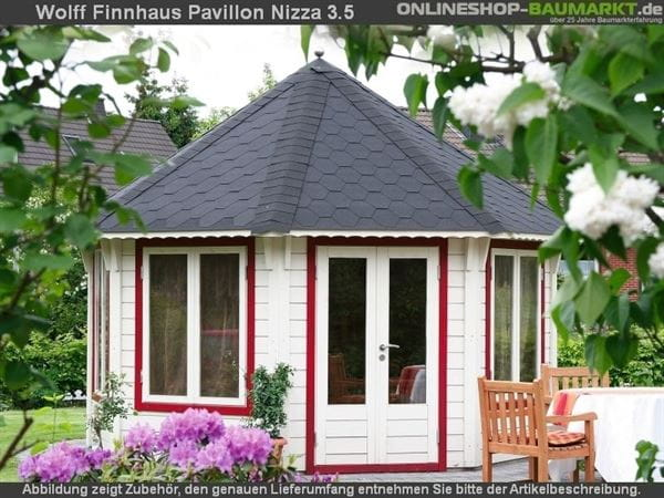 Wolff Finnhaus Pavillon Nizza 3.5 natur 3,5x3,5 m