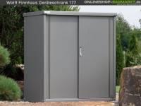 Wolff Finnhaus Geräteschrank Set 177 rauchgrau Metall-Geräteschrank