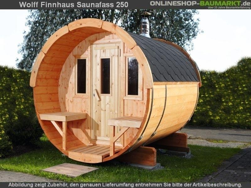 Wolff Finnhaus Saunafass 220 als Bausatz