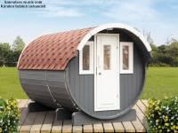 Wolff Finnhaus Saunafass 330 2-Raum