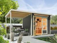 Wolff Finnhaus Aktionshaus Venlo A Titangrau mit Seitendach