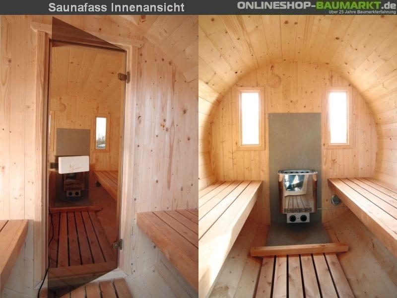 wolff finnhaus saunafass 330 2 raum fasssauna fass sauna. Black Bedroom Furniture Sets. Home Design Ideas