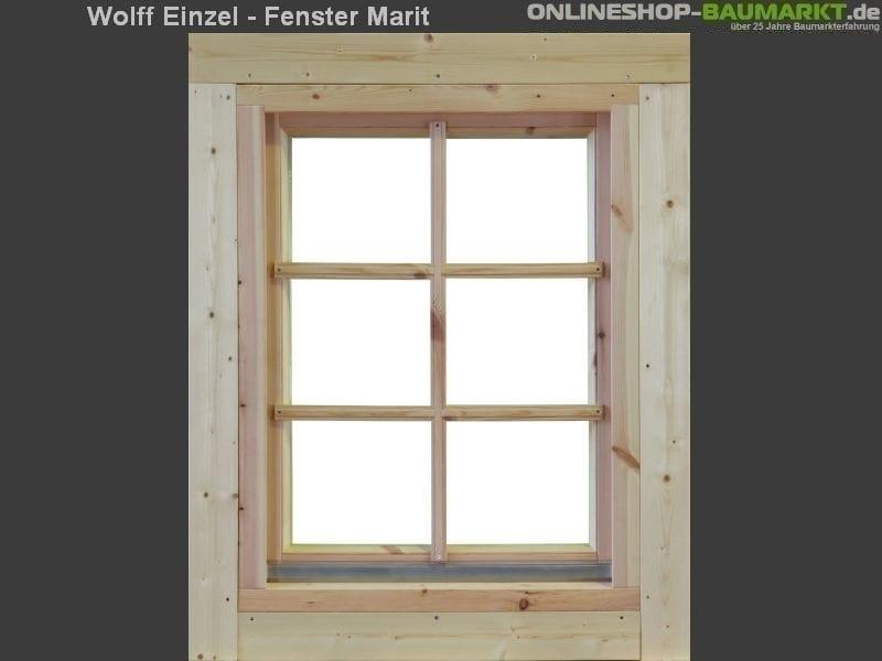 Wolff Finnhaus Einzelfenster Marit 58 Isoliert