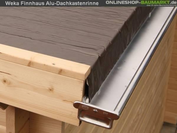 Wolff Finnhaus Alu-Kastendachrinne für Flachdach bis 400 cm mit 1 Fallrohr