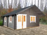 Wolff Finnhaus Freizeithaus Lappland 70-B XL mit Schlafboden