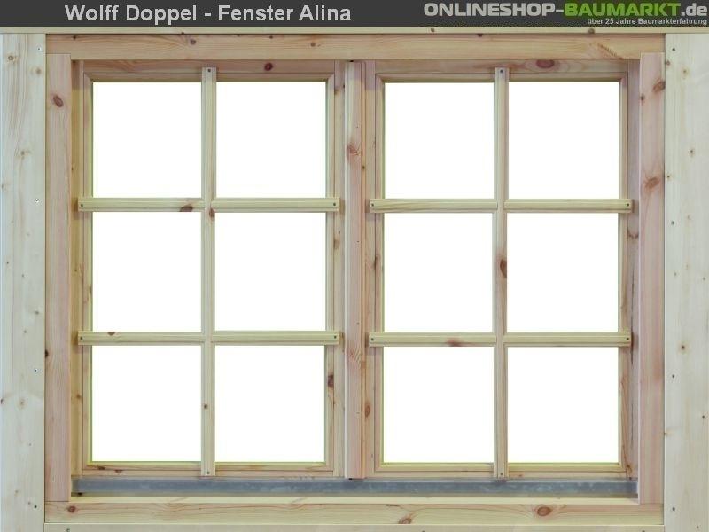 Wolff Finnhaus Doppelfenster Alina 58 Isoliert