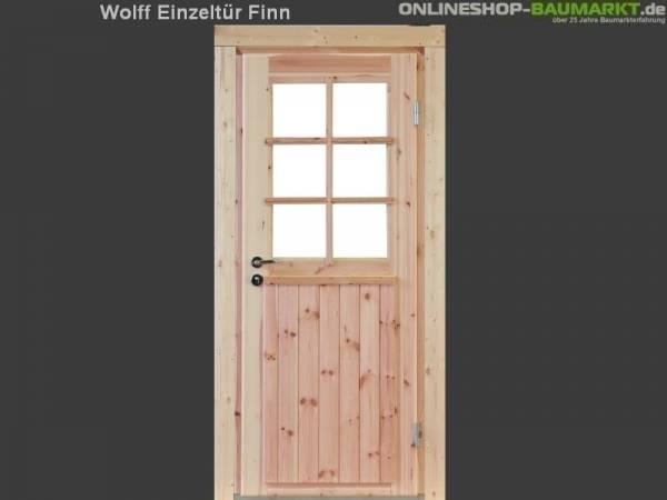 Wolff Finnhaus Einzeltür Finn 58 isoliert