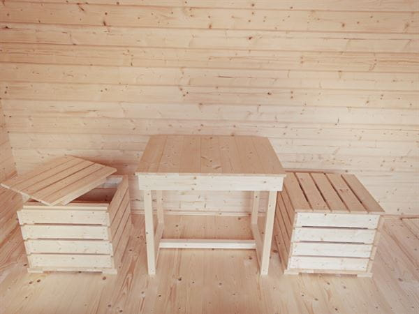 Wolff Finnhaus Campingfass Mega: Tisch und 2 Hocker