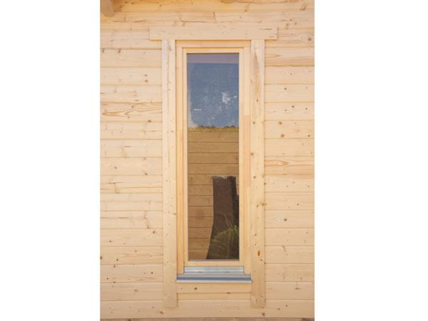 Wolff Finnhaus Einzelfenster für Trondheim/Hammerfest 70 mm Einbau Links