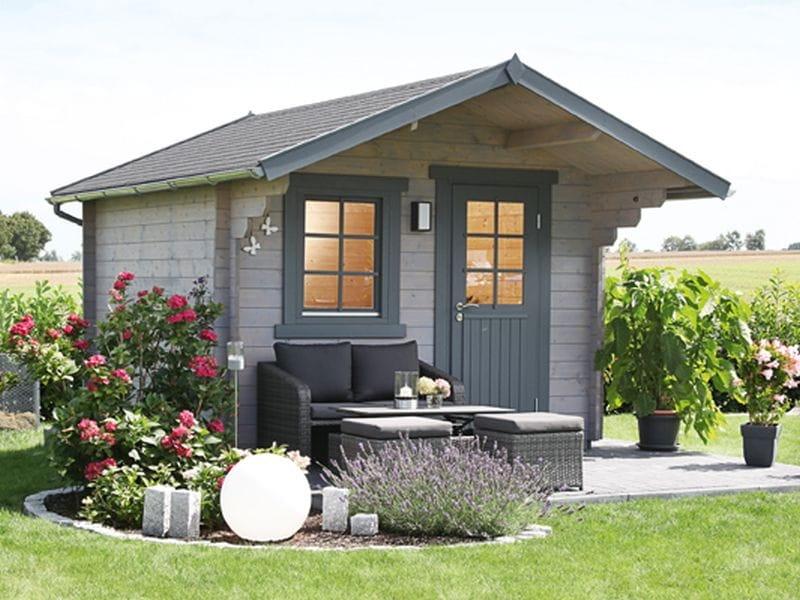 wolff finnhaus satteldach gartenhaus monika 34 b mit einzelt re in einfach zu errichtender. Black Bedroom Furniture Sets. Home Design Ideas
