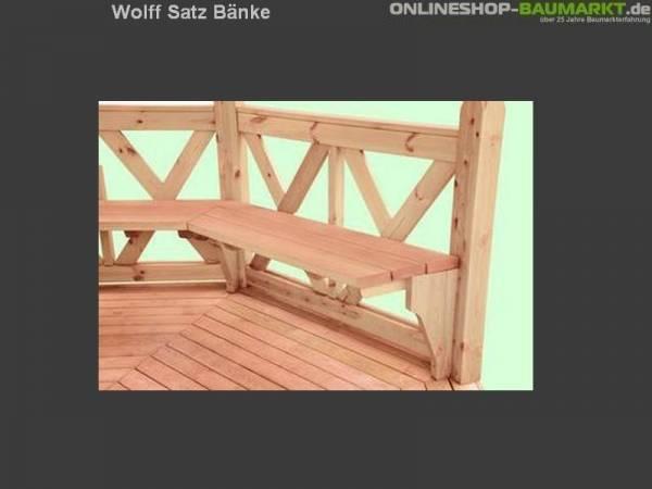Wolff Finnhaus Satz Bänke für Kreta 8 XL