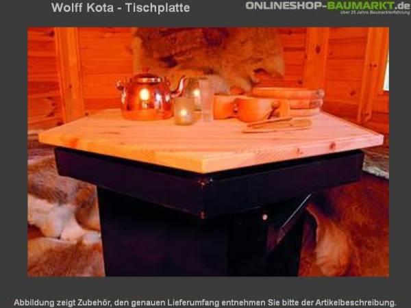 Wolff Finnhaus Kota - Tischplatte 6 - eckig