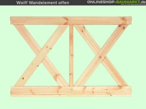 Wolff Finnhaus Wandelement X klein Kreta 8- 7 Stück