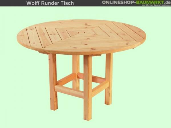 Wolff Finnhaus Runder Tisch für Kreta 6 und Palma