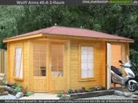 Wolff Finnhaus 5-Eckhaus Anna 40-A/2-Raum mit grünen RE-DS
