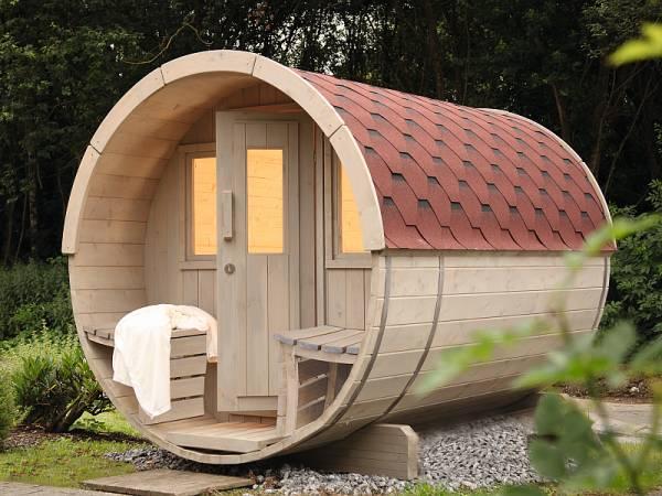 Wolff Finnhaus Saunafass 280 als Bausatz