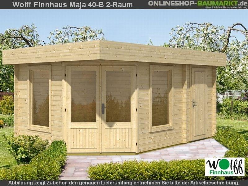 Wolff Finnhaus Gartenhaus Maja 40-B/2-Raum