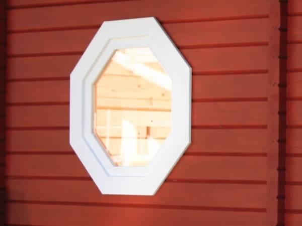 Wolff Finnhaus 8-Eck-Fenster zu Saunahaus Mikko 70 isolierverglast