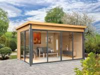 Wolff Finnhaus Pultdachhaus Studio 44-D Alu-Anthrazit naturbelassen