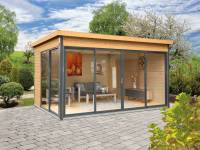 Wolff Finnhaus Pultdachhaus Studio 44-D Alu-Anthrazit fichte