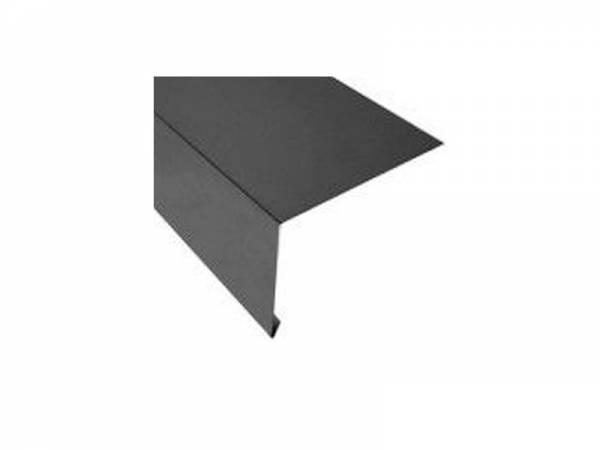 Aluminium Rinneneinhang 200 cm, Typ 8 für Dachtraufe/Dachrinne anthrazit-grau - 1 Stück