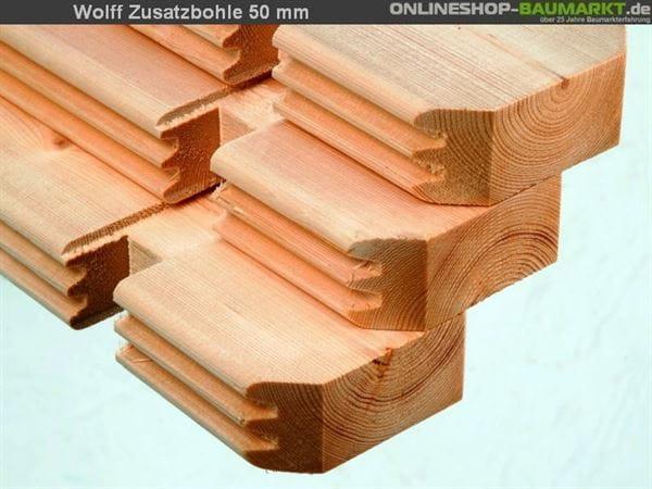 Wolff Finnhaus Zusatzbohle 58 mm je lfm.