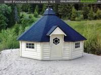 Wolff Finnhaus Grillkota Basic 17 DS schwarz