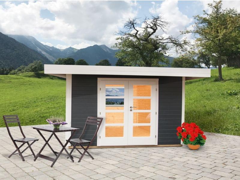 Wolff Finnhaus Flachdachhaus Relax C in anthrazit