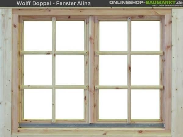 Wolff Finnhaus Doppelfenster Alina 44 Isoliert
