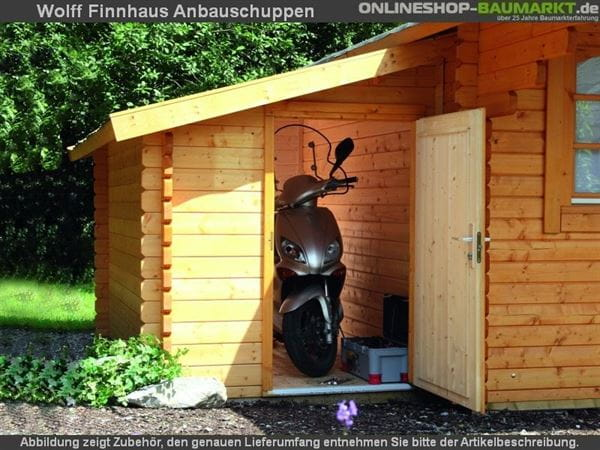 Wolff Finnhaus Anbauschuppen 28-XS natur