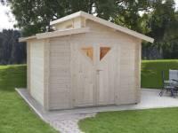 Wolff Finnhaus Bornholm 40-B mit Dreieckglas-Tür