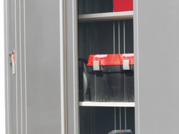Regale in cremeweiss für Wolff Finnhaus Geräteschrank 135