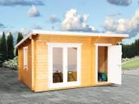 Wolff Finnhaus Pultdachhaus Trondheim 44-D XL 2-Raum naturbelassen