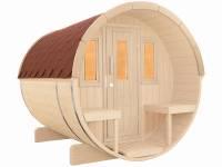 Wolff Finnhaus Saunafass 250 als Bausatz