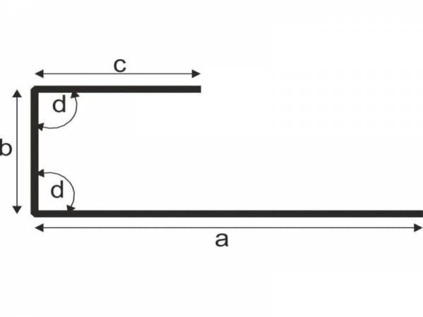 Abschlussprofil für Dachbleche - 1 Stück