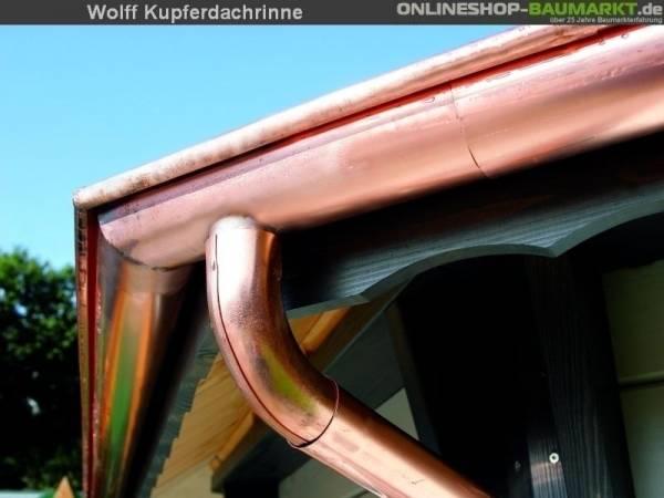 Wolff Dachrinne Kupfer mit Kette