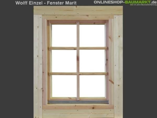Wolff Finnhaus Einzelfenster Marit 28 natur