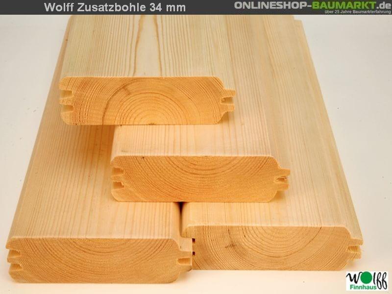 Wolff Finnhaus Zusatzbohle 34 mm je lfm.